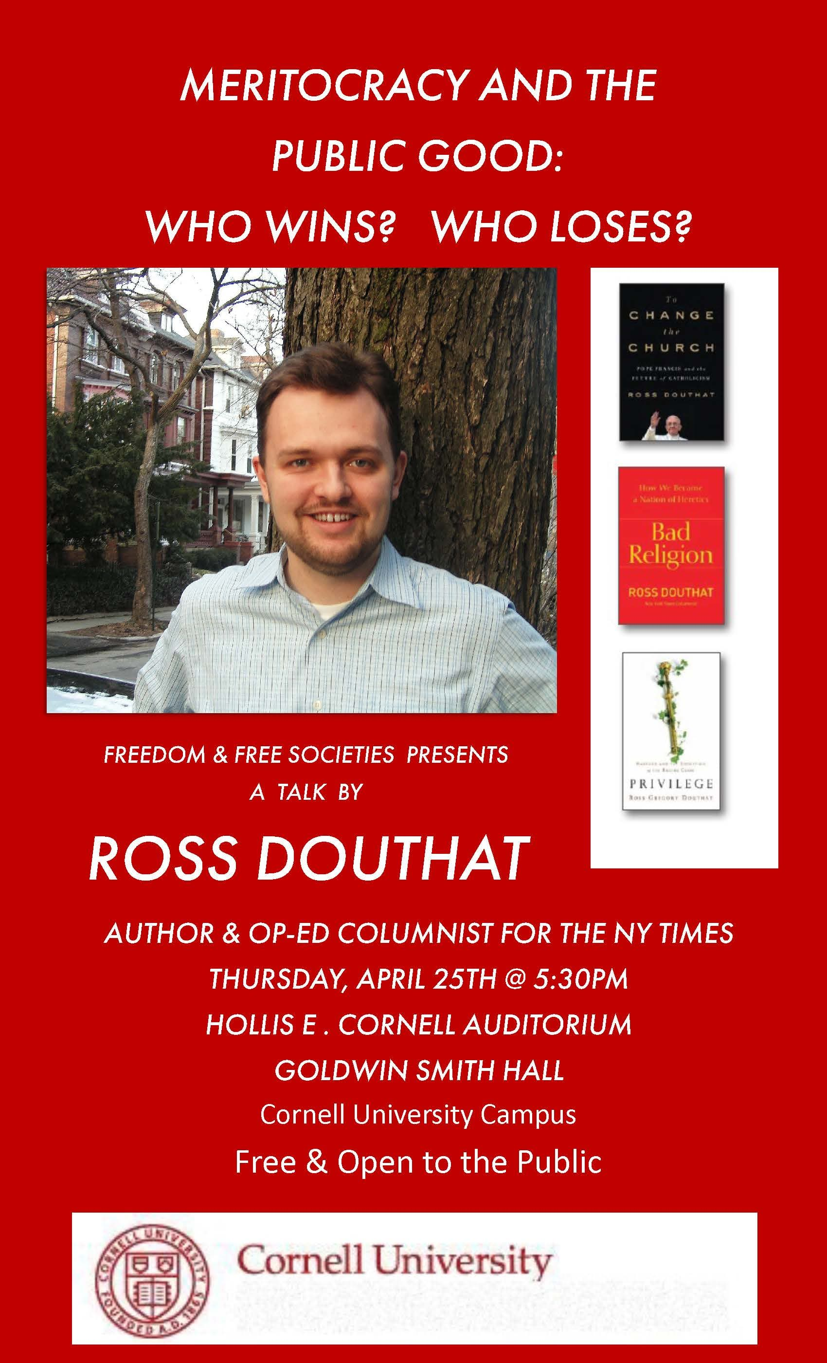 Talk with Ross Douthat
