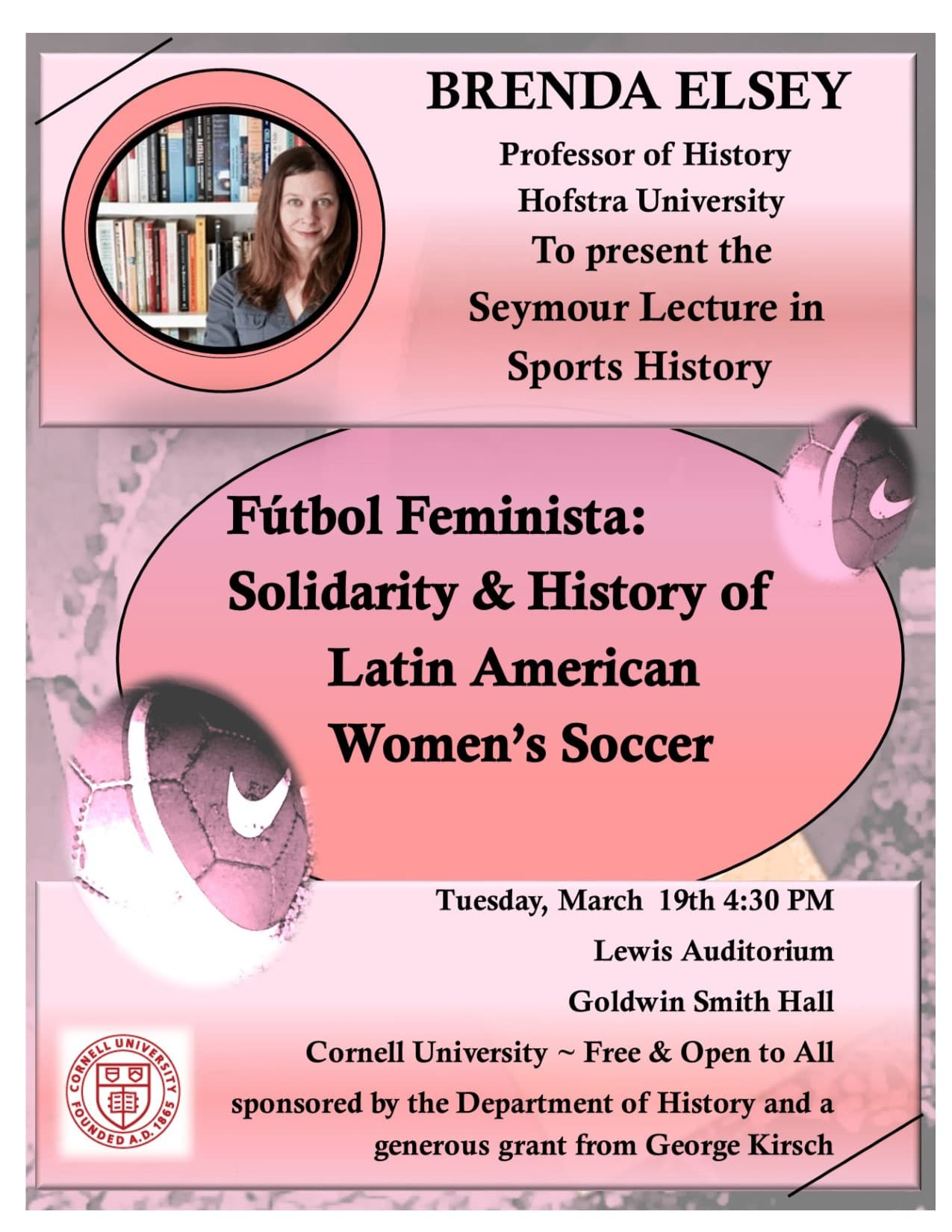 Advertisement for the Seymour Lecture in Sports History