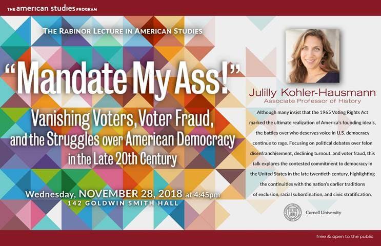 Julilly Kohler-Hausmann to speak